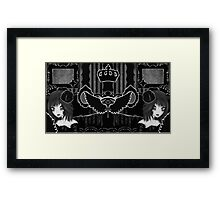 Framed in glory, 3 lives and counting Framed Print