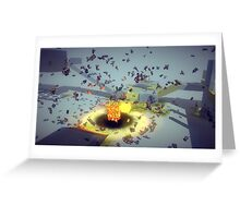 Besiege Explosion Greeting Card