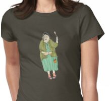 angry italian lady Womens Fitted T-Shirt