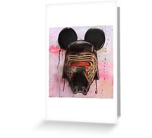 Kylo Mouse — Handpainted Pink Greeting Card