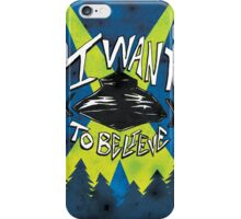 I Want To Believe Redux iPhone Case/Skin