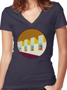 Modernist Architecture  Women's Fitted V-Neck T-Shirt