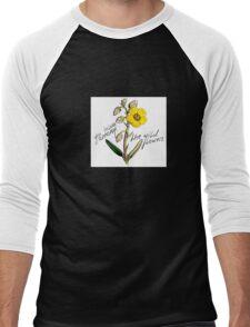 Flower Power Men's Baseball ¾ T-Shirt