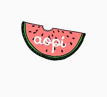 Alpha Omicron Pi Cursive Watermelon Unisex T-Shirt