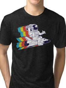 funky astronaut Tri-blend T-Shirt