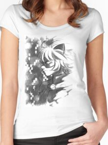ML- Chat Noir  Women's Fitted Scoop T-Shirt
