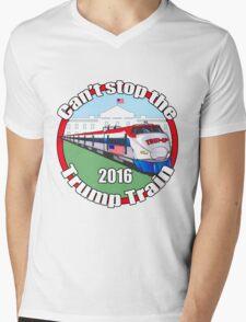 Can't stop the Trump train  Mens V-Neck T-Shirt