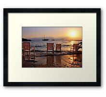Sunset at Mermerli Beach Framed Print
