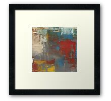 Painted Patches Framed Print