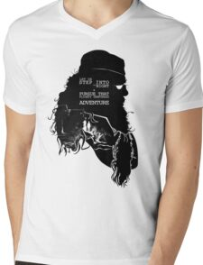 """""""Let us step into the night & pursue that flighty temptress adventure"""" Mens V-Neck T-Shirt"""