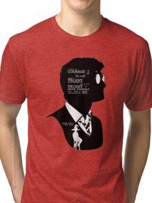 """Where shall i put you?"" Tri-blend T-Shirt"