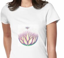 Sacred Lotus 2 Womens Fitted T-Shirt