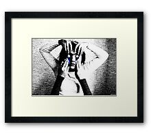 Kooky Eyes Framed Print