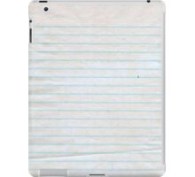 Lined Paper iPad Case/Skin