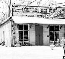Rabbit Hash Iron Works B&W by Mary Carol Story