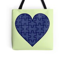 Piece of my Heart in Denim Tote Bag