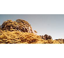 Panoramic Huangshan in Infra Red Photographic Print