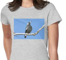 Australian (black-backed) Magpie ~ Singing My Song  Womens Fitted T-Shirt