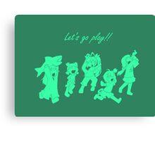 Anime - let's go play! Canvas Print