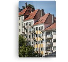 Stepped Red Roofs of Bergen, Norway Metal Print