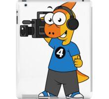 Illustration of a Parasaurolophus camera operator. iPad Case/Skin
