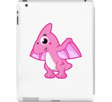 Cute illustration of a pterodactyl. iPad Case/Skin