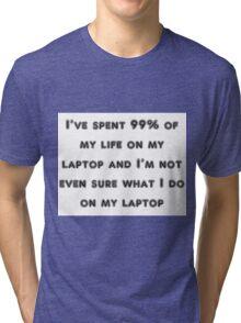 laptop Tri-blend T-Shirt