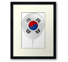 Korean flag Framed Print