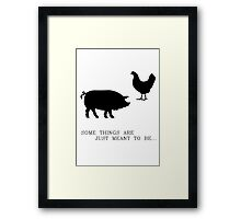 Breakfast Destiny Framed Print