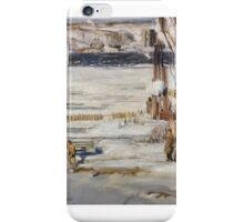 GEORGE WESLEY BELLOWS, (- ), A MORNING SNOW, HUDSON RIVER.  iPhone Case/Skin