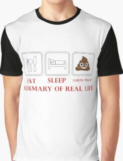 SUMMARY OF REAL LIFE Graphic T-Shirt