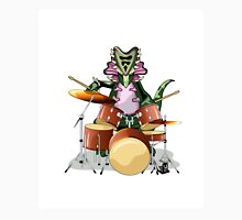 Illustration of a Chasmosaurus playing the drums. Unisex T-Shirt