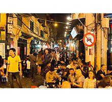 Night Time Hanoi Old Quarter Photographic Print