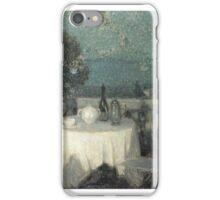 Henri Eugene Augustin Le Sidaner (Port Louis, Mauritius 1862 - Paris, France ) ,Table au Clair de Lune,  iPhone Case/Skin