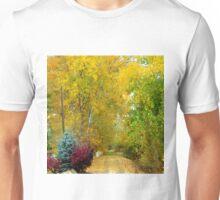 Walking path/drive way in Autumn Unisex T-Shirt