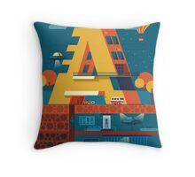 A (secret) building  Throw Pillow