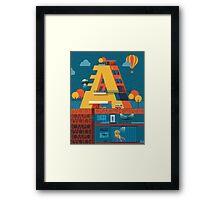 A (secret) building  Framed Print