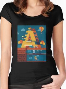 A (secret) building  Women's Fitted Scoop T-Shirt