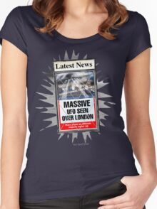 Latest News - UFO Over London Women's Fitted Scoop T-Shirt