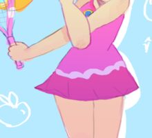 princess peach tennis star Sticker