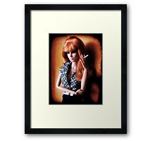 She works hard for the money Framed Print