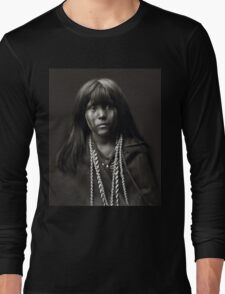 Mosa, A Mojave Woman by Edward S. Curtis Long Sleeve T-Shirt