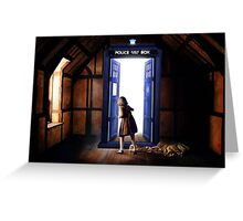The Lion, The Witch, and The TARDIS Greeting Card