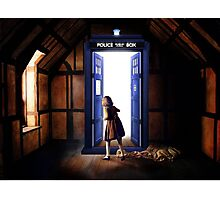 The Lion, The Witch, and The TARDIS Photographic Print