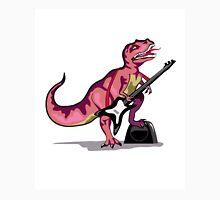 Illustration of Tyrannosaurus Rex playing the guitar. Unisex T-Shirt