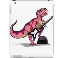 Illustration of Tyrannosaurus Rex playing the guitar. iPad Case/Skin