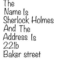 The names Sherlock Holmes by SippyCupPhil