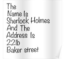 The names Sherlock Holmes Poster