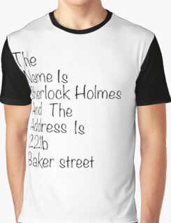 The names Sherlock Holmes Graphic T-Shirt