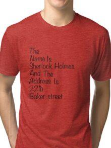 The names Sherlock Holmes Tri-blend T-Shirt